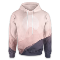 Pink Mountains Hoodie - OmniWear