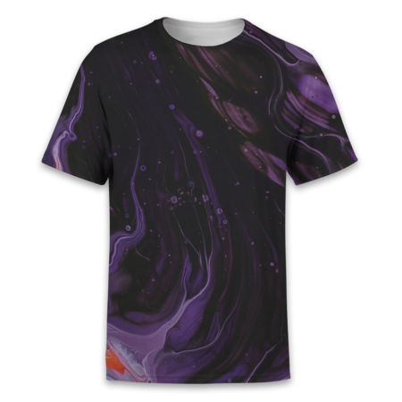 Marbled Purple T-Shirt - OmniWear