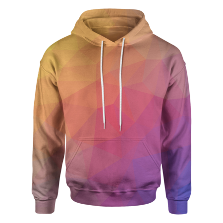 Red Trianglify Hoodie - OmniWear