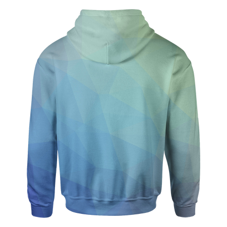 Blue Trianglify Hoodie
