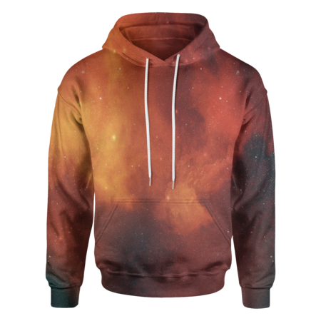 Orange Galaxy Hoodie - OmniWear