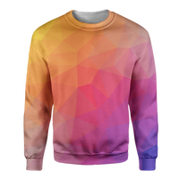Red Trianglify Sweatshirt - OmniWear