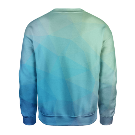 Blue Trianglify Sweatshirt - OmniWear