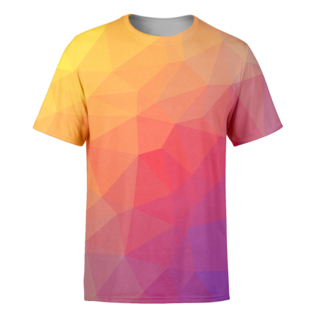 Red Trianglify T-Shirt - OmniWear