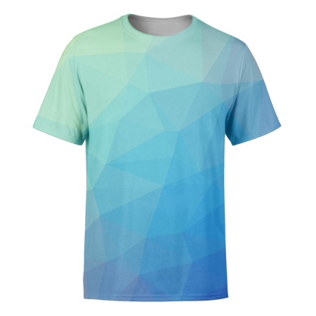 Blue Trianglify T-Shirt - OmniWear