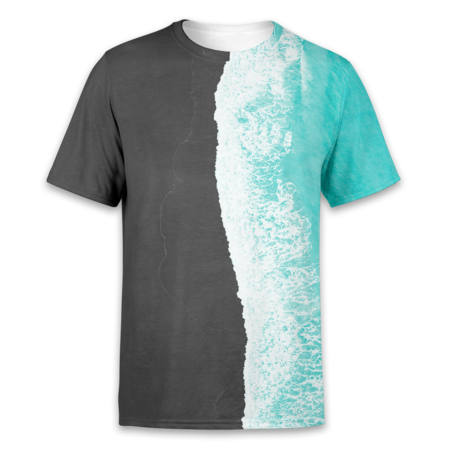 The Waves / Blue - T-Shirt - OmniWear