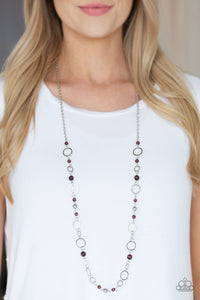 Kid In A Candy Shop - Purple Necklace - Paparazzi Accessories