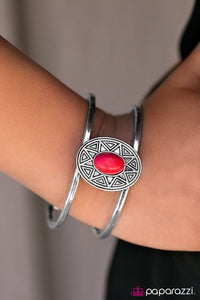 look-on-the-sunny-side-red-bracelet-paparazzi-accessories