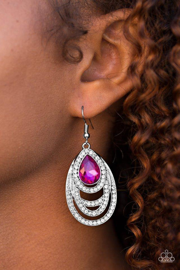 youre-the-glam!-pink-earrings-paparazzi-accessories