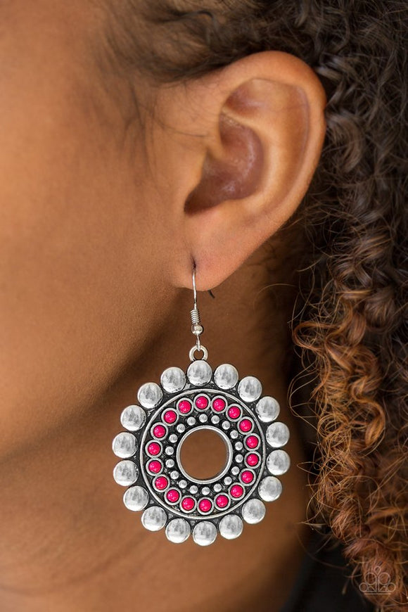 wildly-serene-pink-earrings-paparazzi-accessories