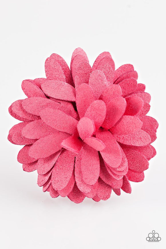 sunshine-and-suede-pink-hair-clip-paparazzi-accessories