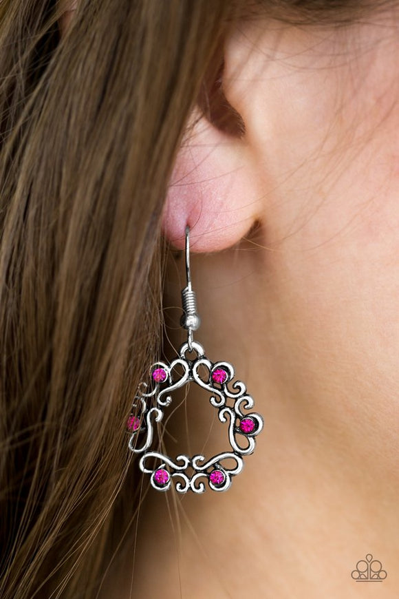 whimsy-wreaths-pink-earrings-paparazzi-accessories