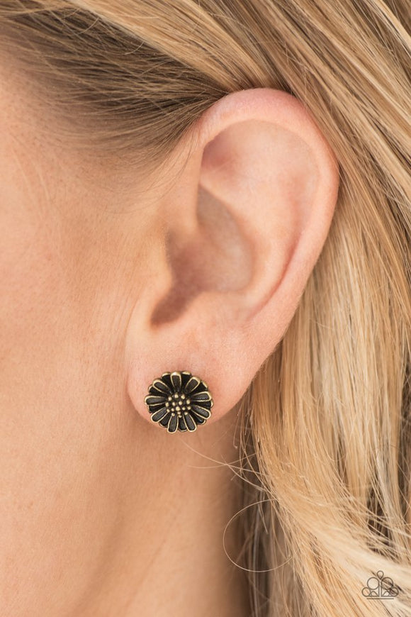 flower-fever-brass-post-earrings-paparazzi-accessories