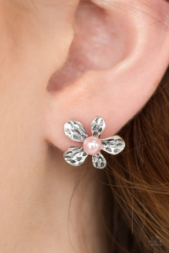 diva-daisy-pink-post-earrings-paparazzi-accessories