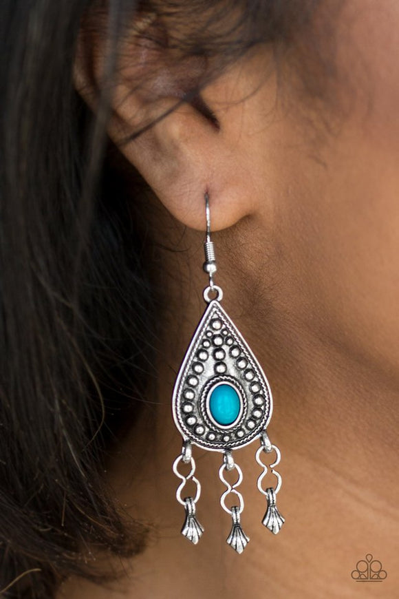 sahara-song-blue-earrings-paparazzi-accessories