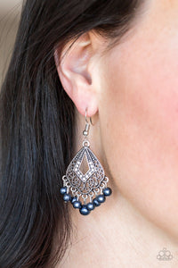 Gracefully Gatsby - Blue Earrings - Paparazzi Accessories