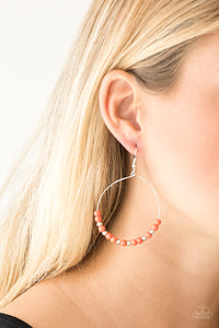 Stone Spa - Orange Earrings - Paparazzi Accessories