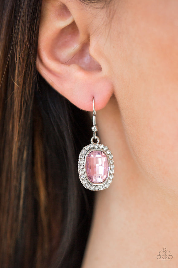 The Modern Monroe - Pink Earrings - Paparazzi Accessories