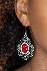 reign-supreme-red-earrings-paparazzi-accessories