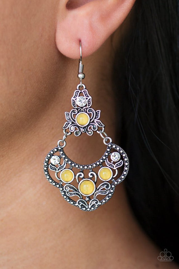 garden-state-glow-yellow-earrings-paparazzi-accessories
