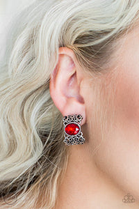 glamorously-grand-duchess-red-clip-on-earrings-paparazzi-accessories