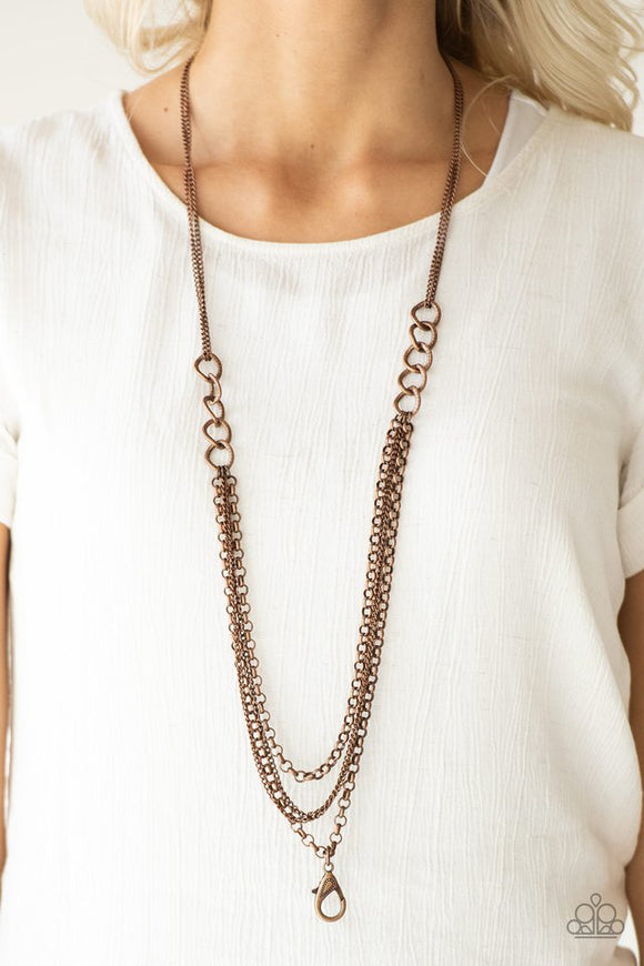 mechanical-mayhem-copper-necklace-paparazzi-accessories