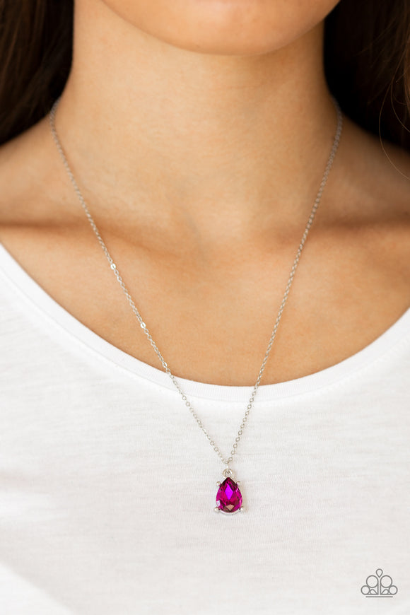 Classy Classicist - Pink Necklace - Paparazzi Accessories