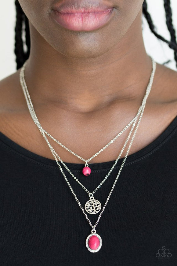 southern-roots-pink-necklace-paparazzi-accessories