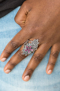 formal-floral-pink-ring-paparazzi-accessories