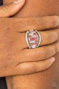 Treasure Chest Charm - Pink Ring - Paparazzi Accessories