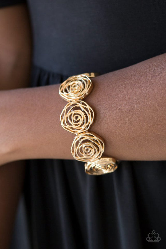 beat-around-the-rosebush-gold-bracelet-paparazzi-accessories