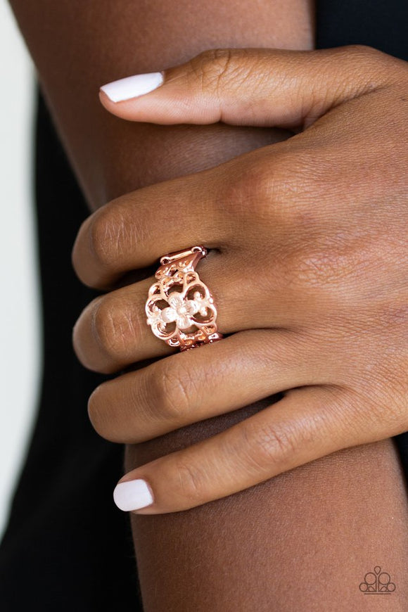 fanciful-flower-gardens-rose-gold-ring-paparazzi-accessories
