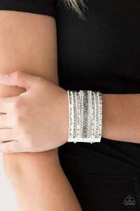rhinestone-rumble-white-bracelet-paparazzi-accessories