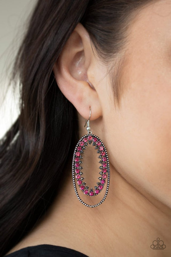 marry-into-money-pink-earrings-paparazzi-accessories