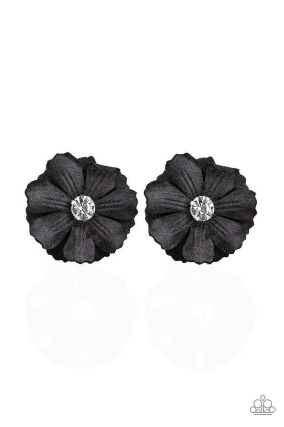candid-carnations-black-hair-clip-paparazzi-accessories