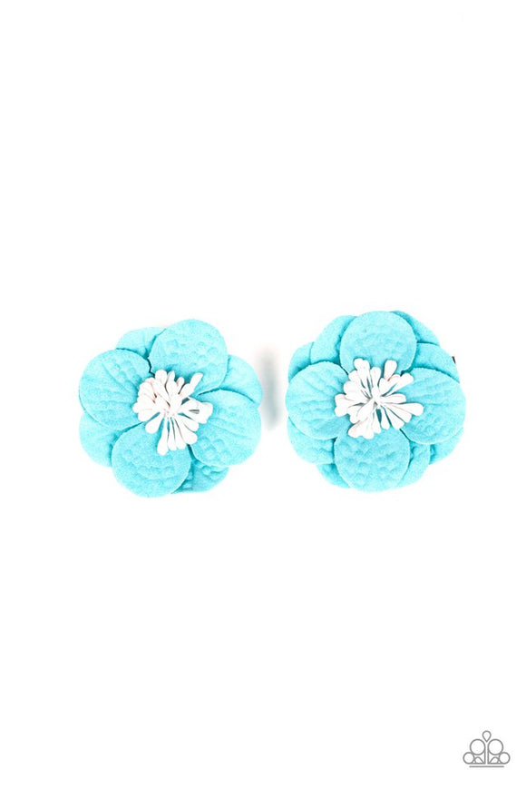 serene-in-sweet-pea-blue-hair-clip-paparazzi-accessories