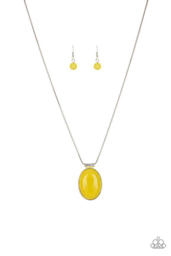 rising-stardom-yellow-necklace-paparazzi-accessories