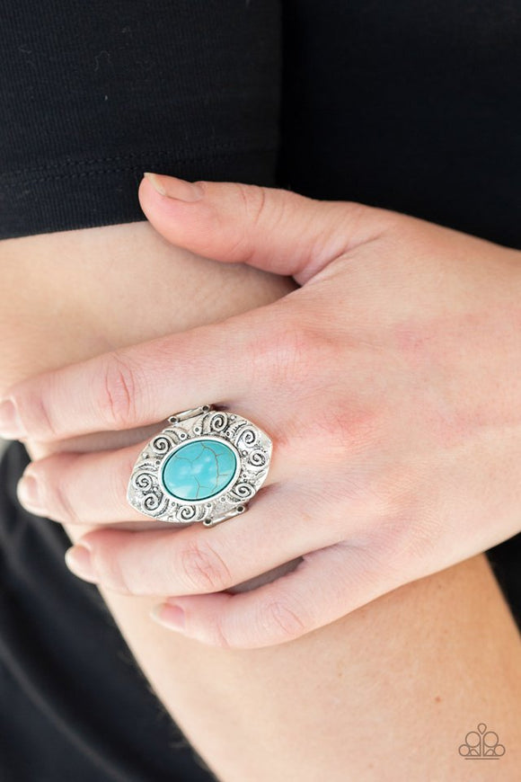 mega-mother-nature-blue-ring-paparazzi-accessories