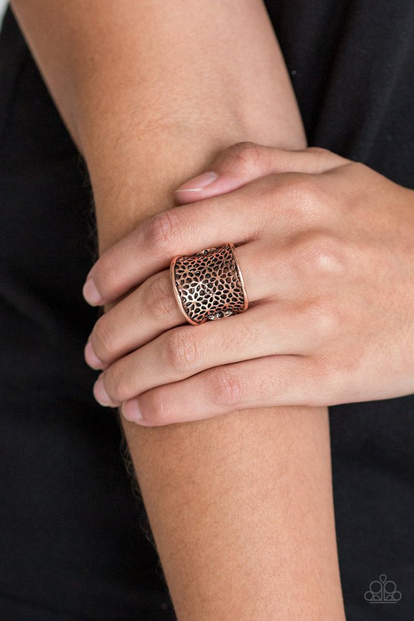 garden-safari-copper-ring-paparazzi-accessories