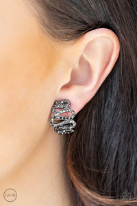 idol-shine-black-earrings-paparazzi-accessories