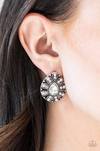 Treasure Retreat - White Post Earrings - Paparazzi Accessories