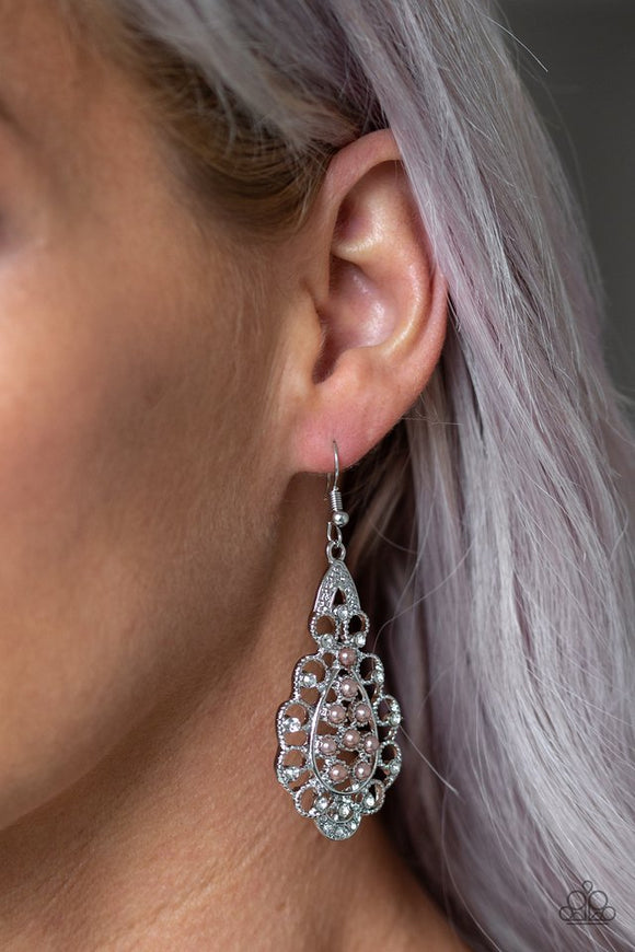 sprinkle-on-the-sparkle-brown-earrings-paparazzi-accessories