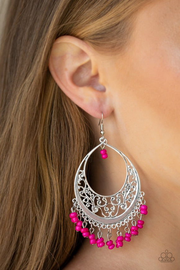 malibu-mamba-pink-earrings-paparazzi-accessories