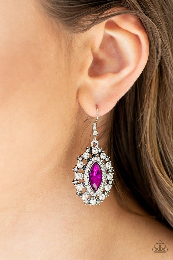 long-may-she-reign-pink-earrings-paparazzi-accessories