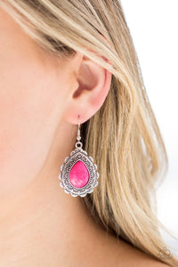 mesa-mustang-pink-earrings-paparazzi-accessories