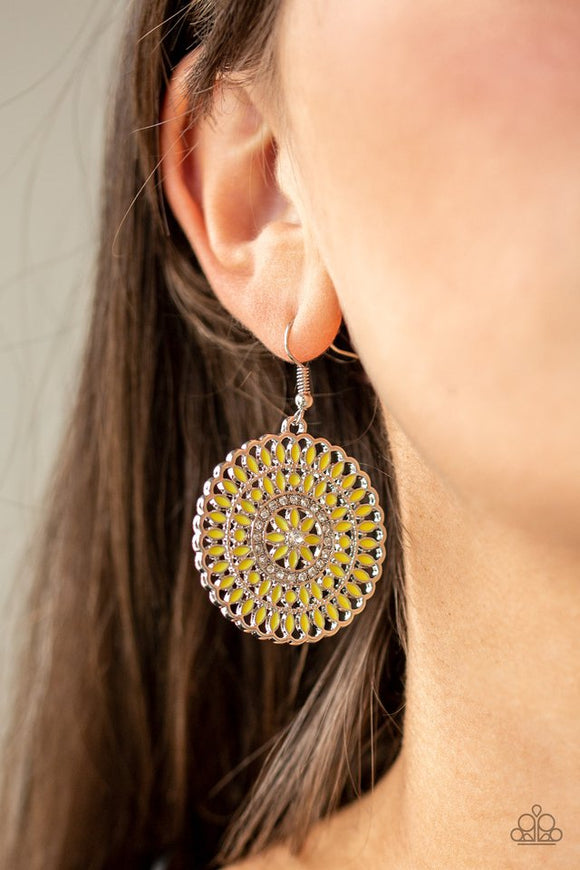 pinwheel-and-deal-yellow-earrings-paparazzi-accessories