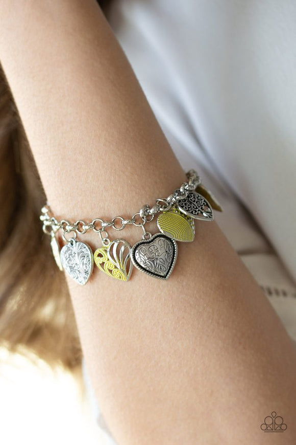 garden-hearts-yellow-bracelet-paparazzi-accessories