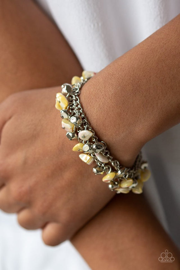 plentiful-pebbles-yellow-bracelet-paparazzi-accessories