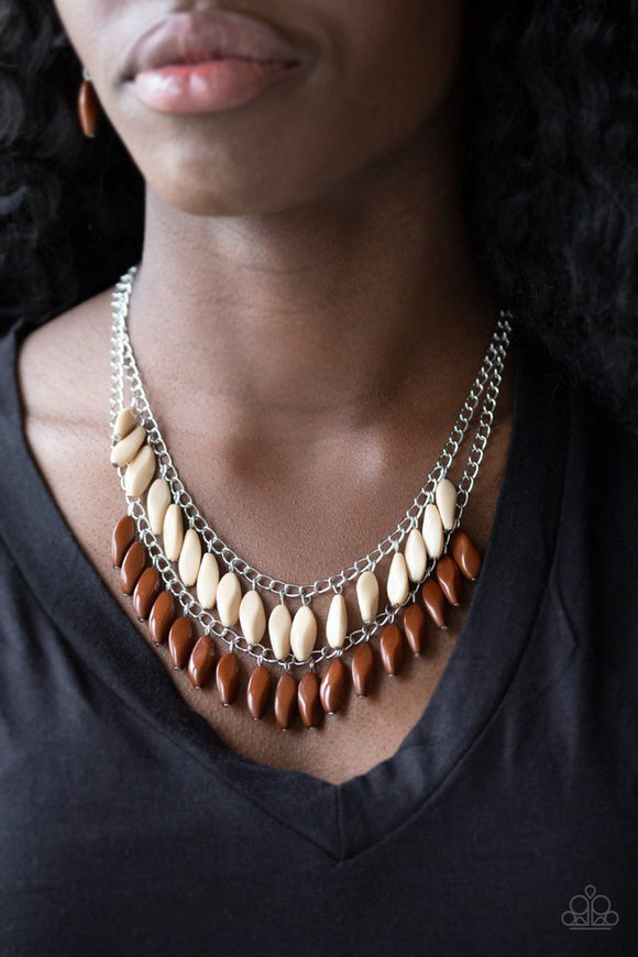 beaded-boardwalk-brown-necklace-paparazzi-accessories