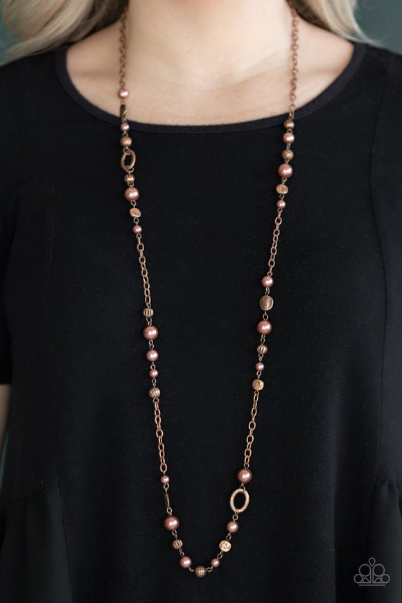 make-an-appearance-copper-necklace-paparazzi-accessories